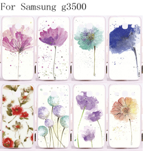 Back Cover PC Skin Luxury Mobile Phone Cover For Samsung Galaxy G3500 Cases Beautiful Colourful Flowers Painting Style Shell