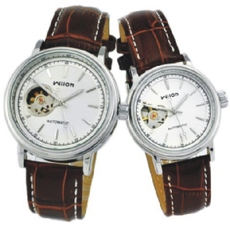 Veyron wilon belt couples watch half hollow out a pair of surface mechanical watch fashion watches