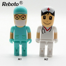 2017 New Blue Doctor and White Nurse usb flash drive 64GB usb memory stick flash pen drive 32GB 16GB 8GB 4GB U Disk Stick