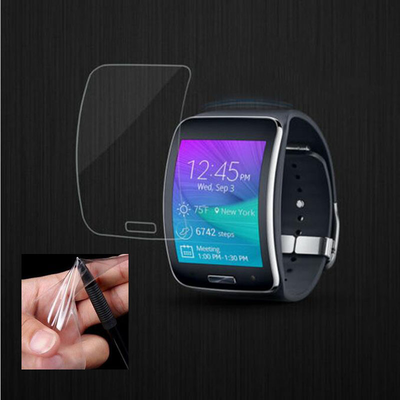 2pcs Anti-shock Soft TPU Ultra HD Clear Protective Film Guard For Samsung Galaxy Gear S R750 Full Display Screen Protector Cover