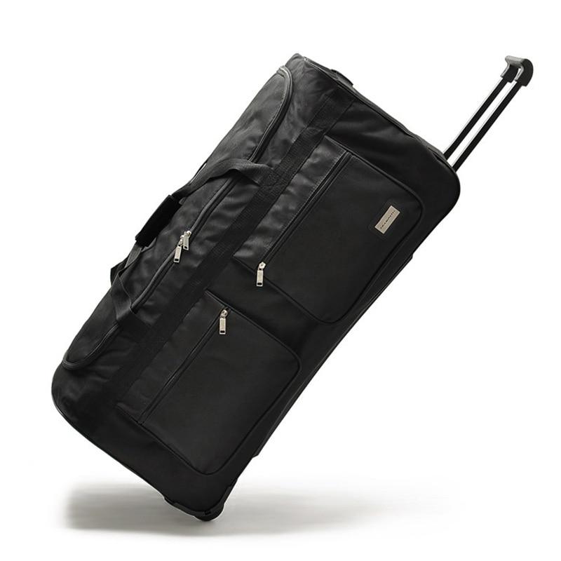 """32 """"40"""" Zoll Große Roll Gepäck Tasche Reise Trolley Koffer Auf Rädern Marke Boarding Carry Auf Große Kapazität Hight 102 Cm Gepäck SpäTester Style-Online-Verkauf Von 2019 50%"""