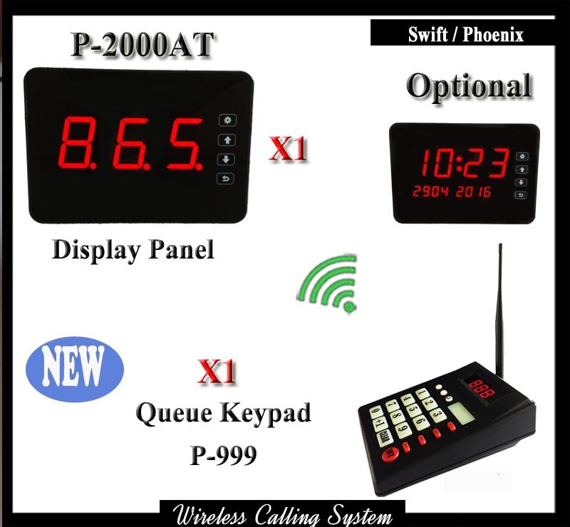 Беспроводной системы управления очередью для кухни рестораны с 1 Беспроводной цифровой клавиатурой и 1 Беспроводной дисплей приемника