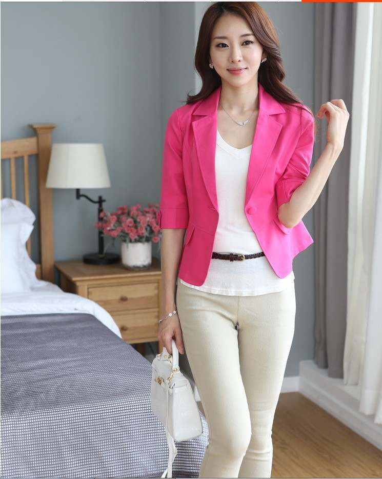 Mr.Nut Spring And Autumn Small Suit Jacket Women's Korean Version Of The Self-Cultivation Seven-Point Sleeve Suit