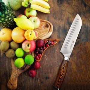 Профессиональный набор ножей, японский шеф-повар, комплект ножей из немецкой стали, кухонные приборы, кухонные принадлежности, деревообраб...