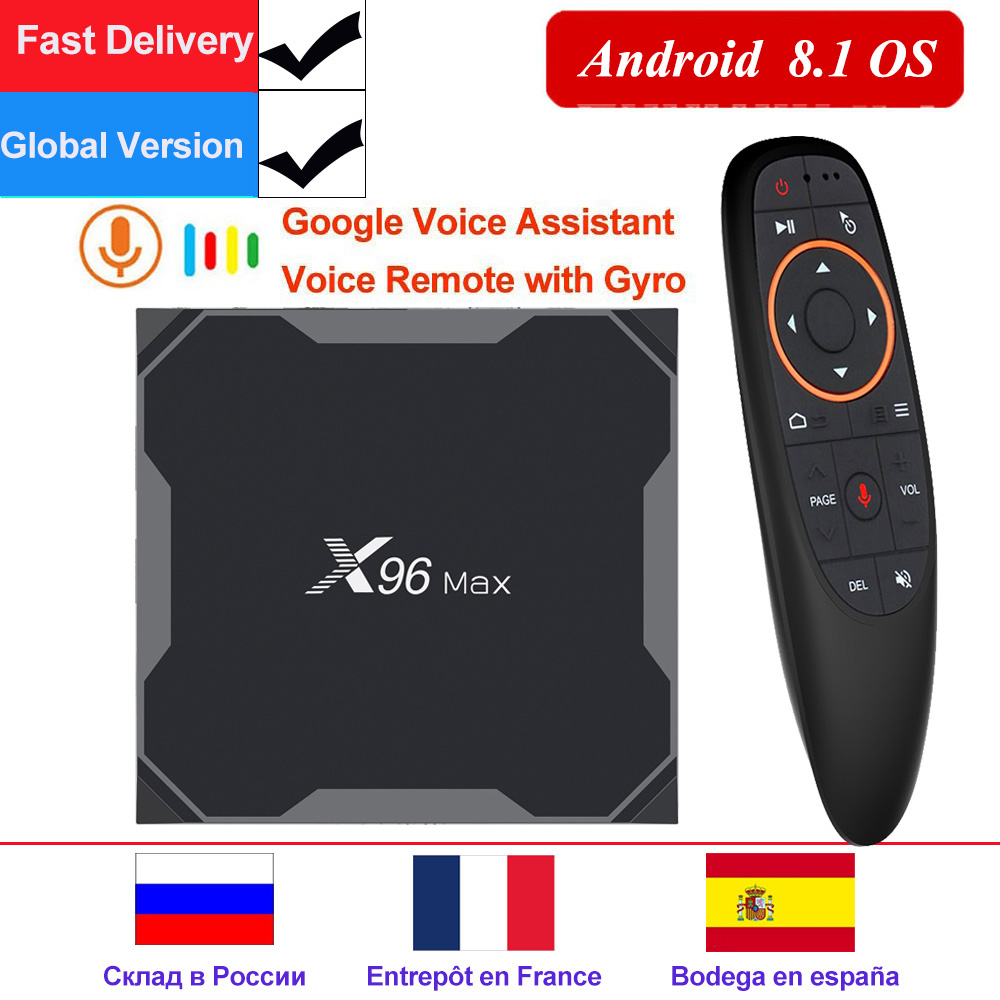 X96 Max X2 Smart TV BOX Android 8.1 TV Box 4K X96Max Amlogic S905X2 lecteur multimédia 4GB 64GB Quad Core BT 1000M 2.4G & 5GHz double Wifi