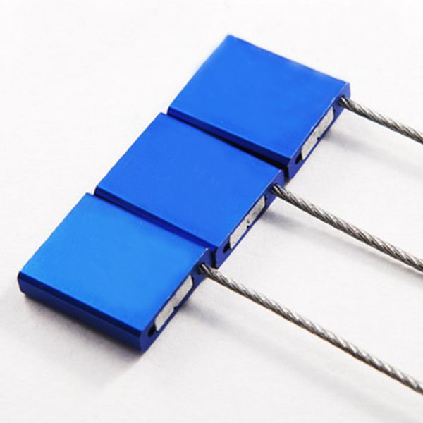 Blue 20 Pcs Pull Tight Wire Seals Locks Anti Tamper Seals for Truck Security Aviation Steel Wire Cable Seals