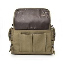 LoliHippo Universal High Capacity Canvas Laptop Handbag Shockproof Notebook Single Shoulder Bag Laptop Messenger Bag