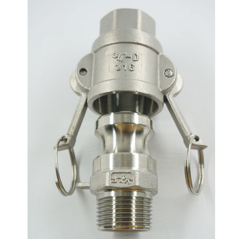 """1/2""""  To 2"""" Type D+F  Camlock Coupling Adapter  Stainless Steel  SS304  Cam And Groove Fitting"""