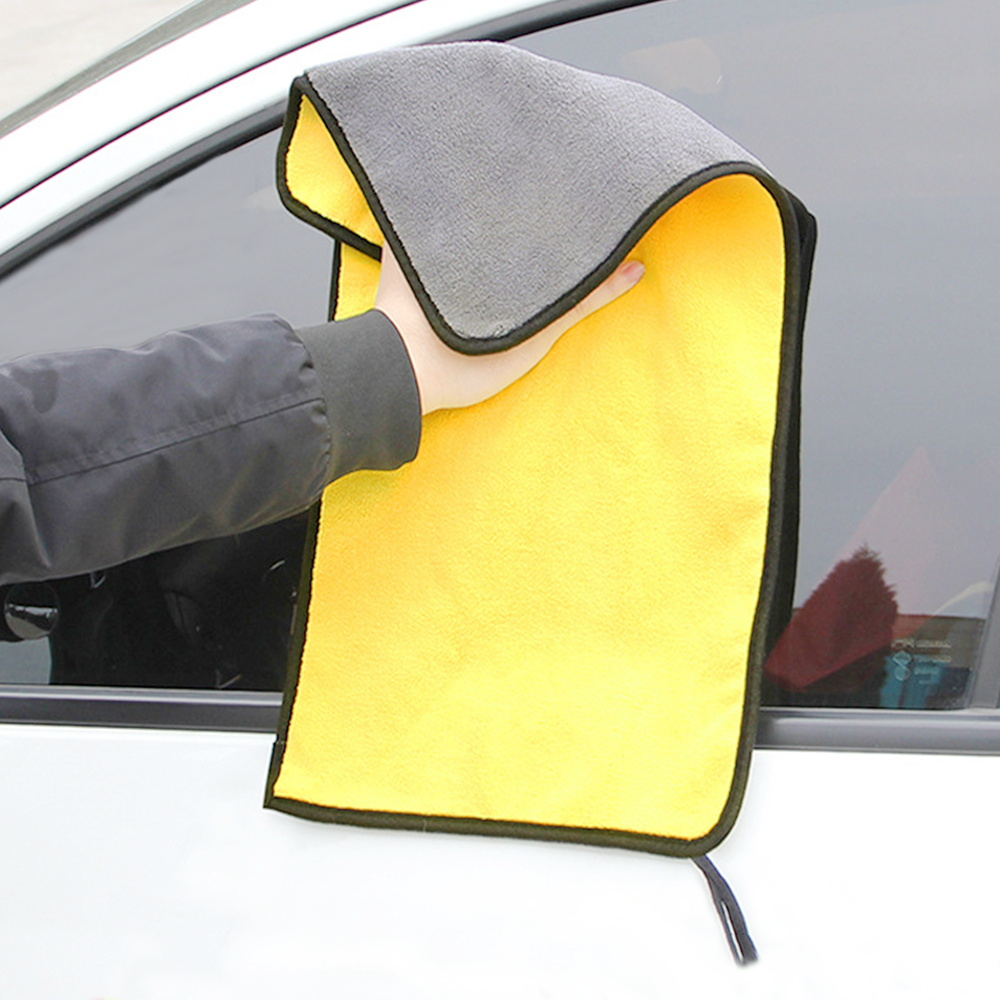 1PC Microfiber Towel Car Cleaning Cloth Drying Towels Super Thick Soft Fiber Car Towel Detailing Tool 30x30/40/60cm