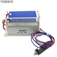 Car Charge Ozone Generator DC12V 10g Double Integrated Long Life Ceramic Plate Ozonizer Air Water sterilize Purifier treatment