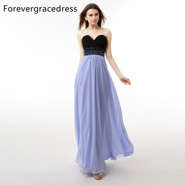 Forevergracedress Real Sample Lavender Color Evening Dress A Line  Sweetheart Beaded Long Chiffon Formal Party Gown Plus Size a728dc964a1e