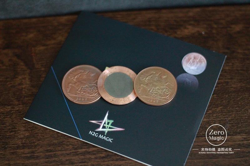 รายการต้นฉบับ N3 เหรียญโดย N2G (one รุ่น dollar)   แม่เหล็ก   Trick magic tricks, props ตลก, gimmick, ใหม่-ใน มายากลมหัศจรรย์ จาก ของเล่นและงานอดิเรก บน   1