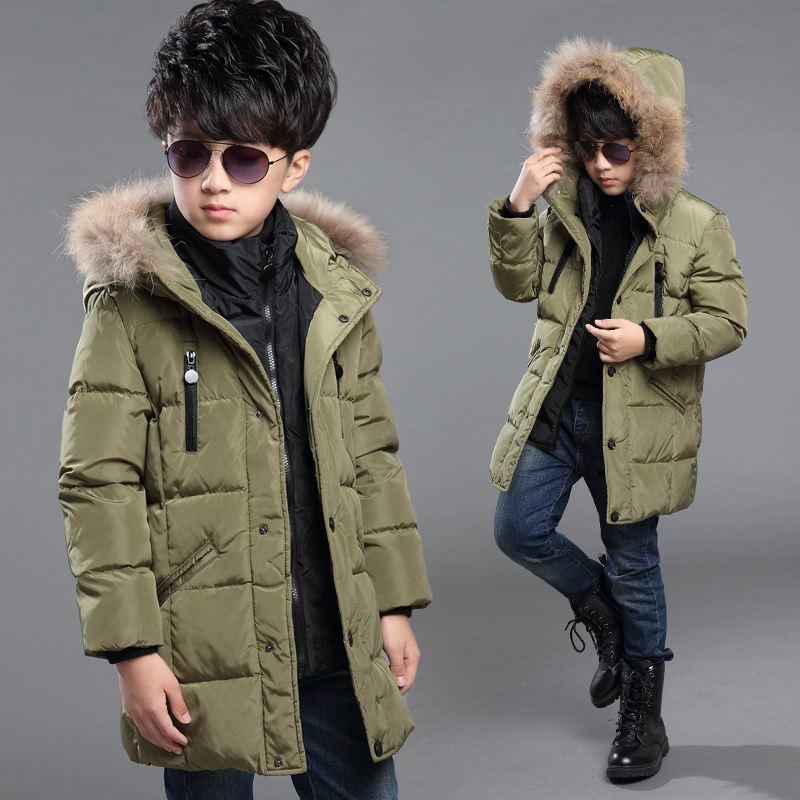 Aliexpress.com : Buy New Boys Winter Jacket Long Thickness Hooded ...