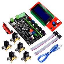 3D printer MKS Gen V1.4 control board 2004 LCD kits Controller board RepRap Ramps1.4 +TMC2130/TMC2100/TMC2208/A4988/ driver 3d printer starter kit control board mks base v1 6 mks tft32 v4 0 touch screen all in one controller imprimante reprap panel