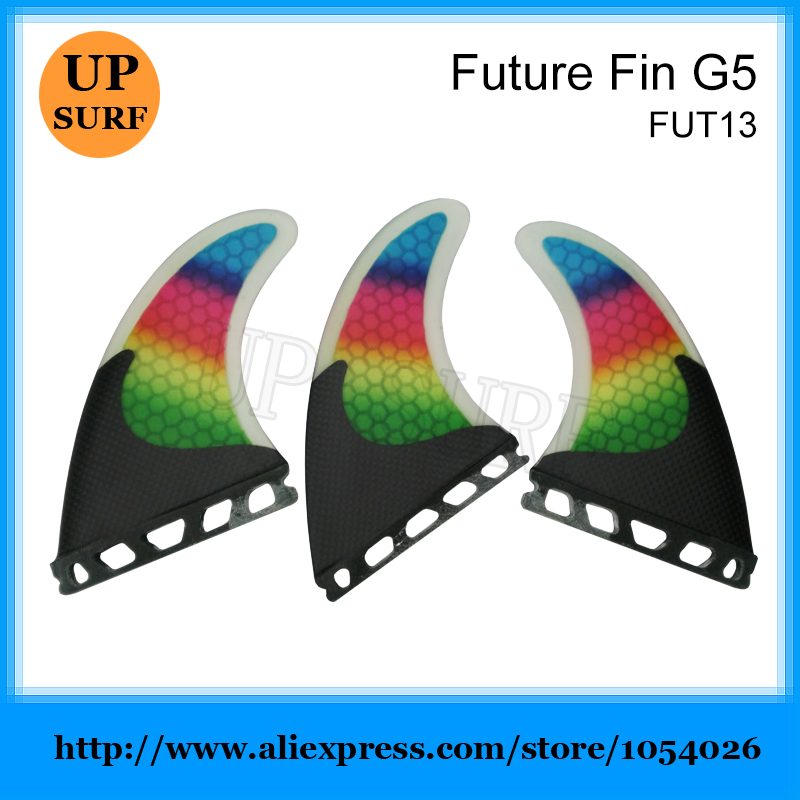 Surfing Fins Future/FCS G5 Quilhas Colorful Fins Honeycomb Fibre Fins SUP Board