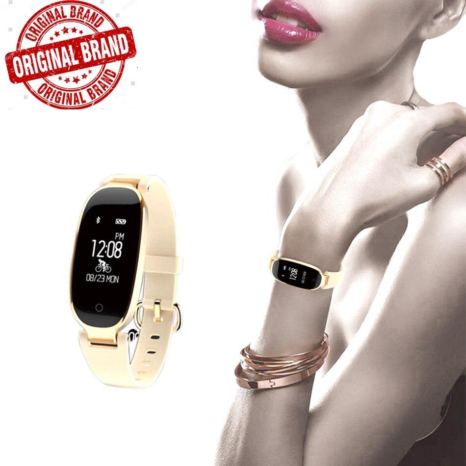 S3 Girl waterproof Smart Bracelet Women Heart Rate Monitor Wrist Smart tracker Lady Female FitnessTracker Wristband Pk Z18
