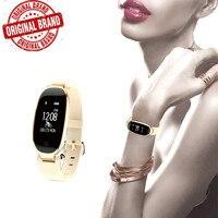 S3 Moda Akıllı Bant Bilezik Kız Kadın Kalp Hızı Monitörü Bilek Smartband Lady Kadın Spor Tracker Bileklik Pk Z18
