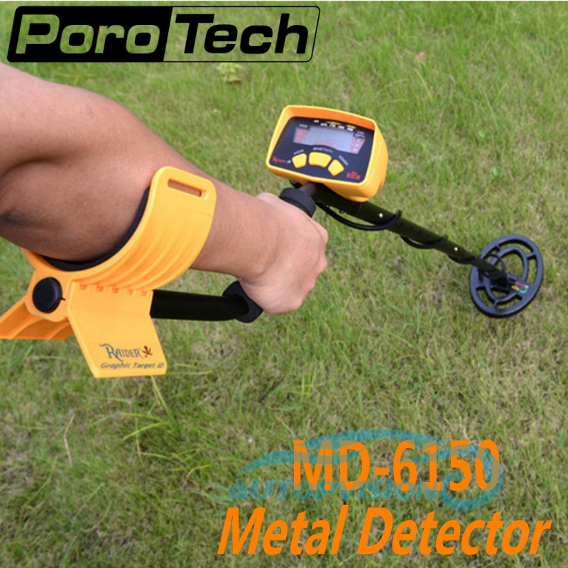 2017 New Style MD-6150 Underground Metal Detector Professional Gold Scanner Treasure Hunter Deep Ground Metal Detector MD6150