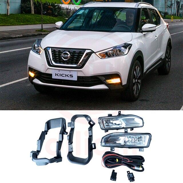 Oem Fog Light Lamps Kit For Nissan Kicks Patadas P15 2017 2018 2019