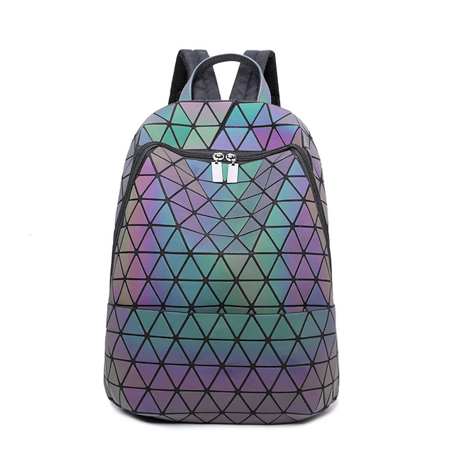 fa07e5376859 Diamond bao Backpack 2018 Fashion Luminous Backpack Women Geometric Back  Bags Female Backpack School Bag Girl Mochila-in Backpacks from Luggage    Bags on ...
