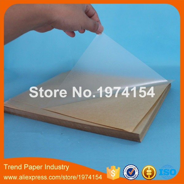 60 sheets pack a4 self adhesive writeable printable blank transparent clear pvc label sticker lamination film laser printer in printer ribbons from