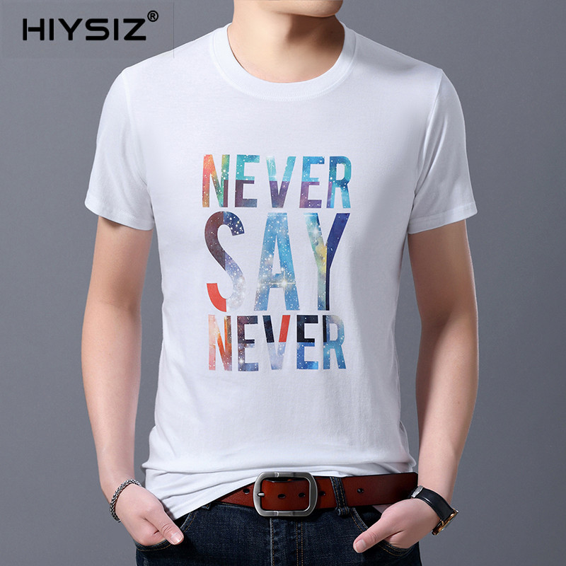 HIYSZI Men T Shirt New 2019 Tops Brand Cartoon Casual Streetwear Contracted Fashion Trend Summer Pullover O Neck T Shirt ST259 in T Shirts from Men 39 s Clothing