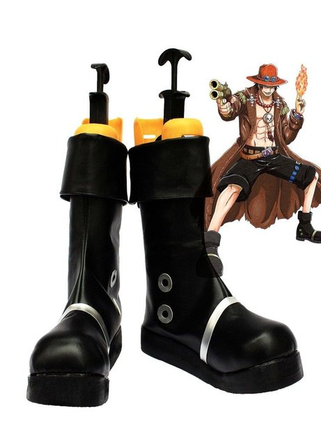 One Piece Anime Portgas D Ace Cosplay Shoes Boots Custom Made
