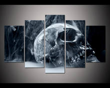 Hot Sales Framed 5 Panels Picture Skull poster series HD Canvas Print Painting Artwork Wall Art Canvas painting /11Y-ZT-17(China)