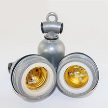 E27 soporte de lámpara Retro de aluminio cerámica base de bombilla con tornillo adaptador de luz de techo Vintage