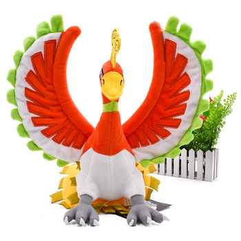 Anime Hot Toy Ho-Oh Plush Animal Soft Stuffed Peluche Figure Doll Great Birthday Christmas Gift For Children 2018 New Style anime hot toy armaldo animal soft stuffed peluche plush figure dolls great christmas gift for children 2018 new style
