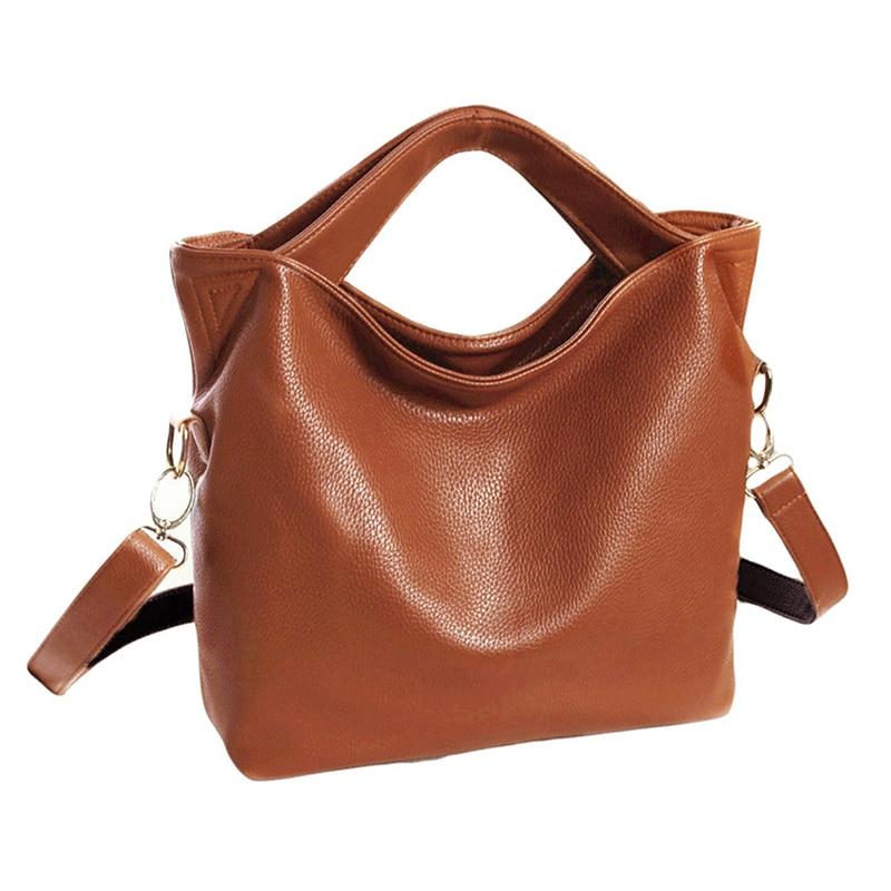 Hot Fashion Women Vintage PU Leather Tote Handbag Chic Office Ladies Crossbody Messenger Shoulder Bag 3