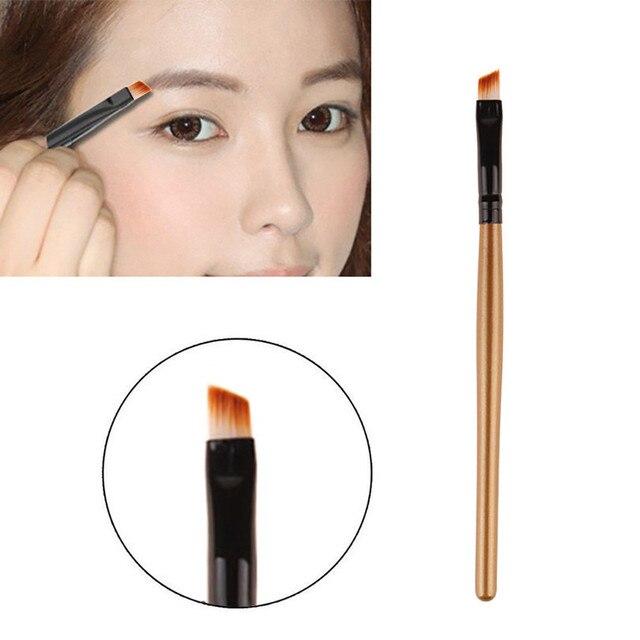 Maquillaje brocha de cejas profesional plana angular ojo ceja delineador de ojos pincel de maquillaje fácil de controlar cepillo de cejas natural
