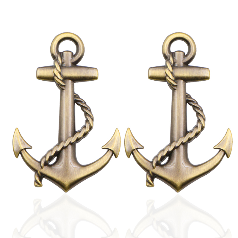 2pcs NEW Anchor Ship Metal Sticker Custom Text Personalized Stereo Letter Motorcycle Car Stickers DIY Emblem Sticker Car Styling