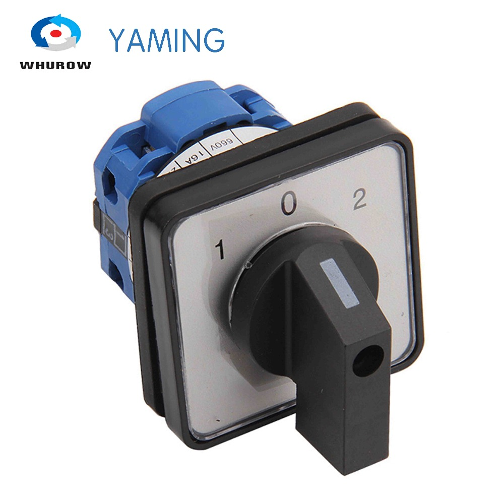 Yaming electric LW39B-16/1 changeover rotary cam switch 660V 16A 1 pole 3 position 4 terminals silver contact LW26 rotary cam changeover switch 660v 20a electric 3 position 8 terminals lw26 20 2 free shipping