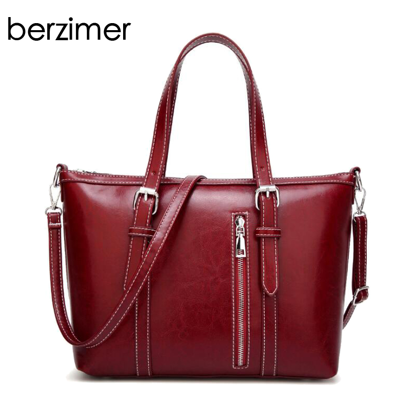 BERZIMER Stylish Women Handbag Beautiful Black Blue Green Wine Red Grey Crossbody Bag Large Capaticy Tote Bags for Women 2018 цена