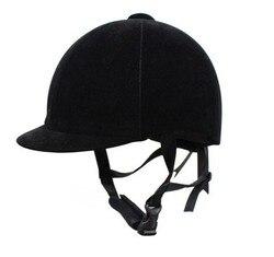 Конный шлем бандунга для верховой езды, шлем для верховой езды, замша, дышащая Конская шляпа 908, черный