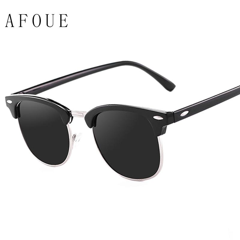 AFOUE 2017 Classic Half Metal Polarized Sunglasses