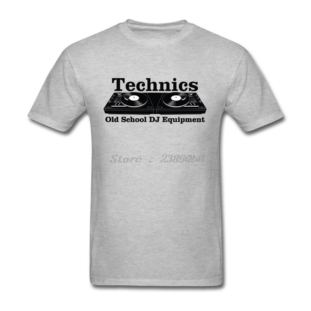 Mens T-Shirts Technics Black Popular New Style Old School DJ Tee Tops Short Sleeve T-Shirts Men Tops
