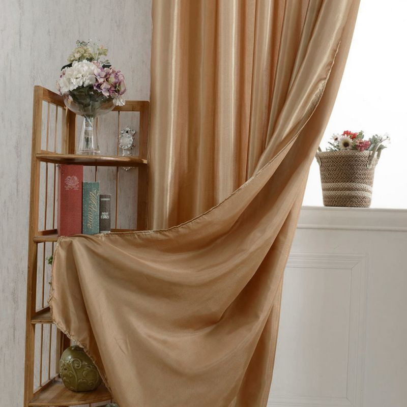 Solid Color French Window Shade Blackout Curtain Living