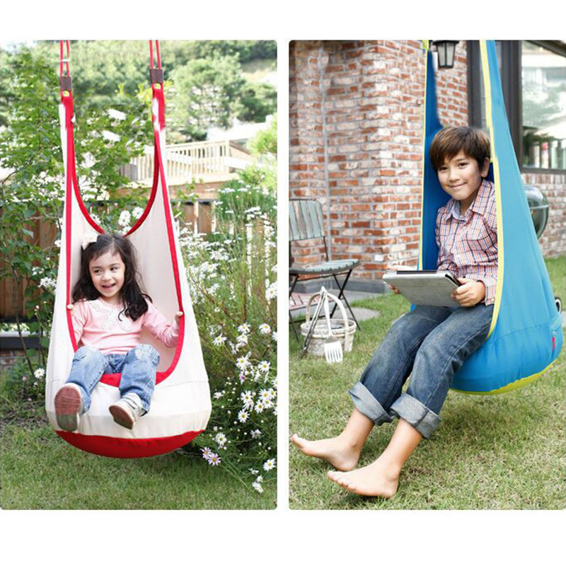 все цены на Indoor Outdoor Hanging Kids Toy Swing Hammock Chair Inflatable Hammock Adult Hanging Toy Swing Chair For Reading Tent Relax онлайн