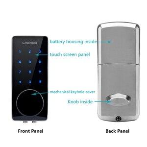 Image 3 - LACHCO Porta Elettronica Password di Blocco, 2 Carte, 2 Tasti meccanici Tastiera di Tocco Dello Schermo Blocco di Codice Digitale Smart Entry L16076BS