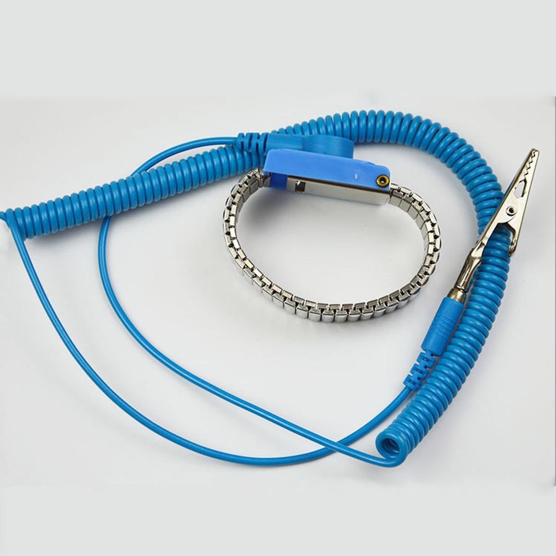 Антистатический ремешок эластичный ремешок с зажимом для чувствительной электроники ремонтные работы инструменты