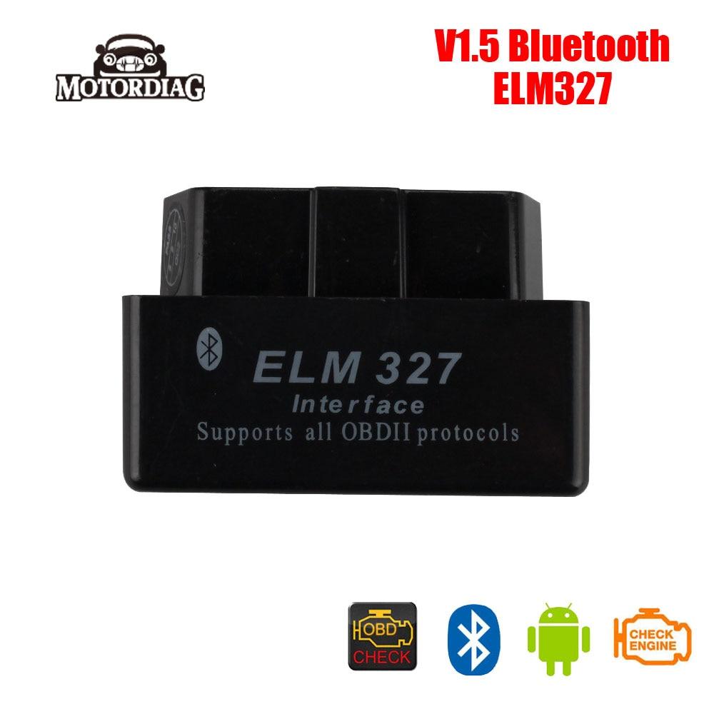 Prix pour Super MINI ELM327 Bluetooth OBD2 Scanner De Diagnostic Automobile ELM 327 V1.5 Code Lecteur Escáner Auto Automotivo Portatil
