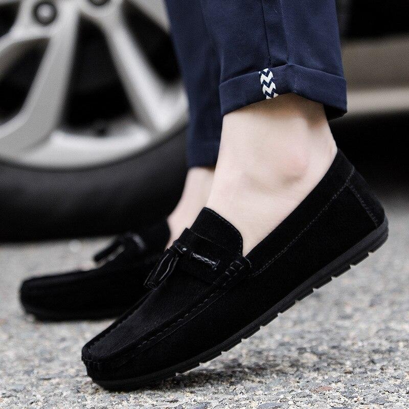 87ab0c41fb7f18 Des Chaussures Casual Coréenne Et Nouvelle Brown Cuir Mode Version De En  Hommes gris La Printemps D'été noir Tendance 2019 RPxSzz