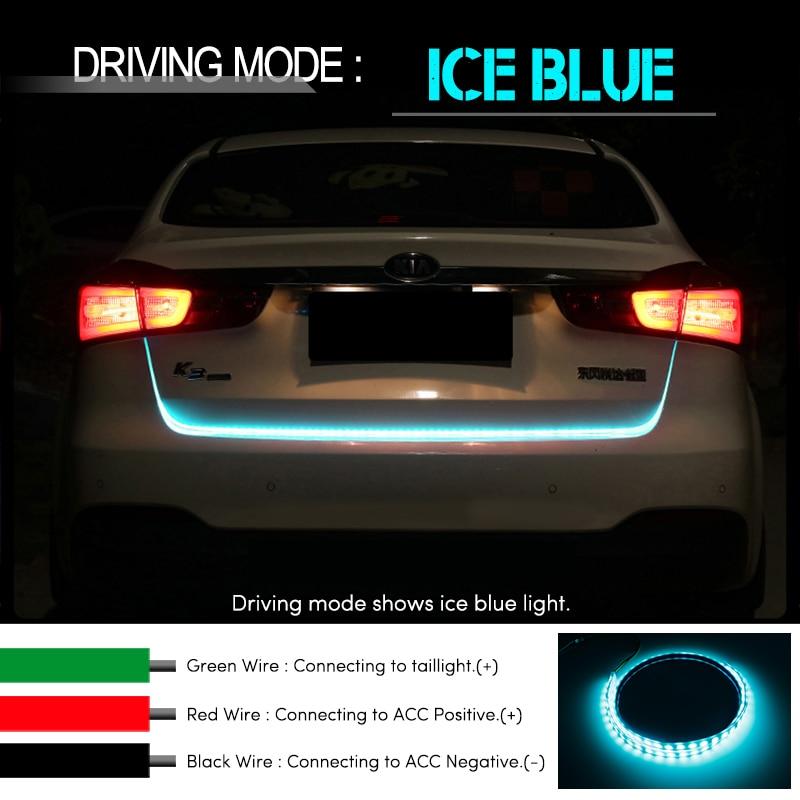OKEEN RGB ЧЕРВЕН Жълт бял заден опашка LED - Автомобилни светлини - Снимка 3