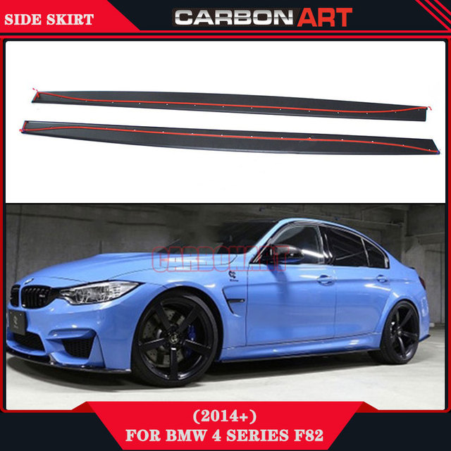 f80 f82 m4 style performance carbon fiber body kit side skirt trim apron for bmw f80 m3 4 door. Black Bedroom Furniture Sets. Home Design Ideas
