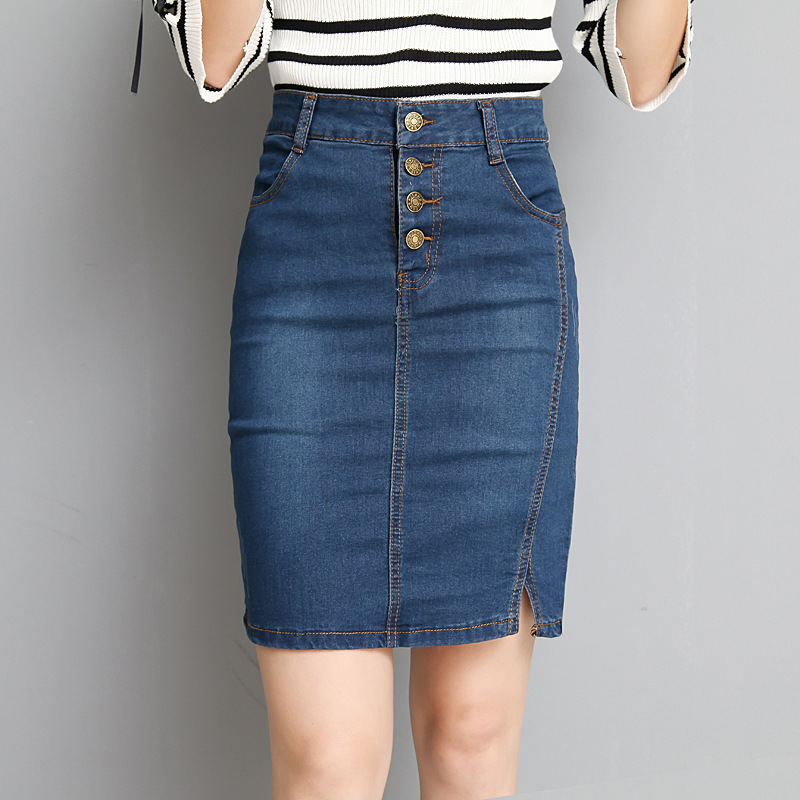 Womens Short Denim Skirts For Women Denim Mini Skirt Female Plus Size Skirts Womens Bandage Jeans Skirt With High Waist Summer
