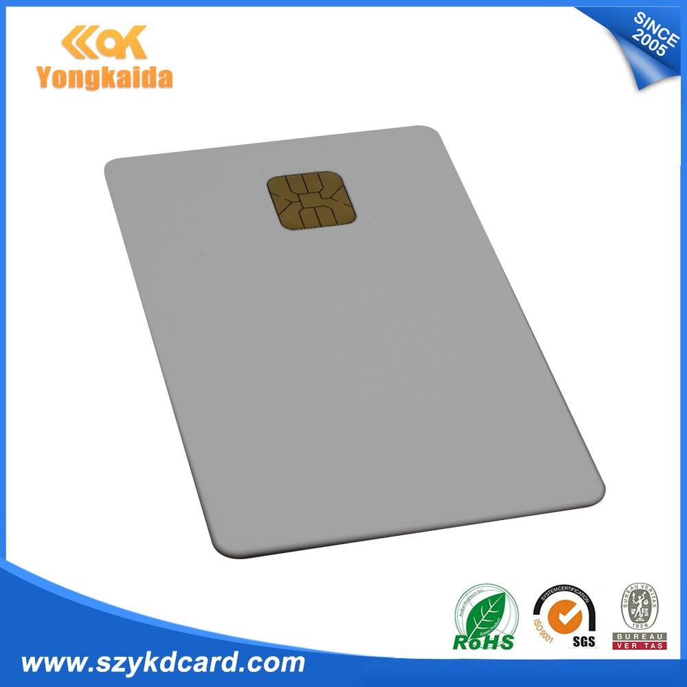 Белый Бланк для распечатки iso7816 AT24C16 записи чтения Контактная смарт карта - 3