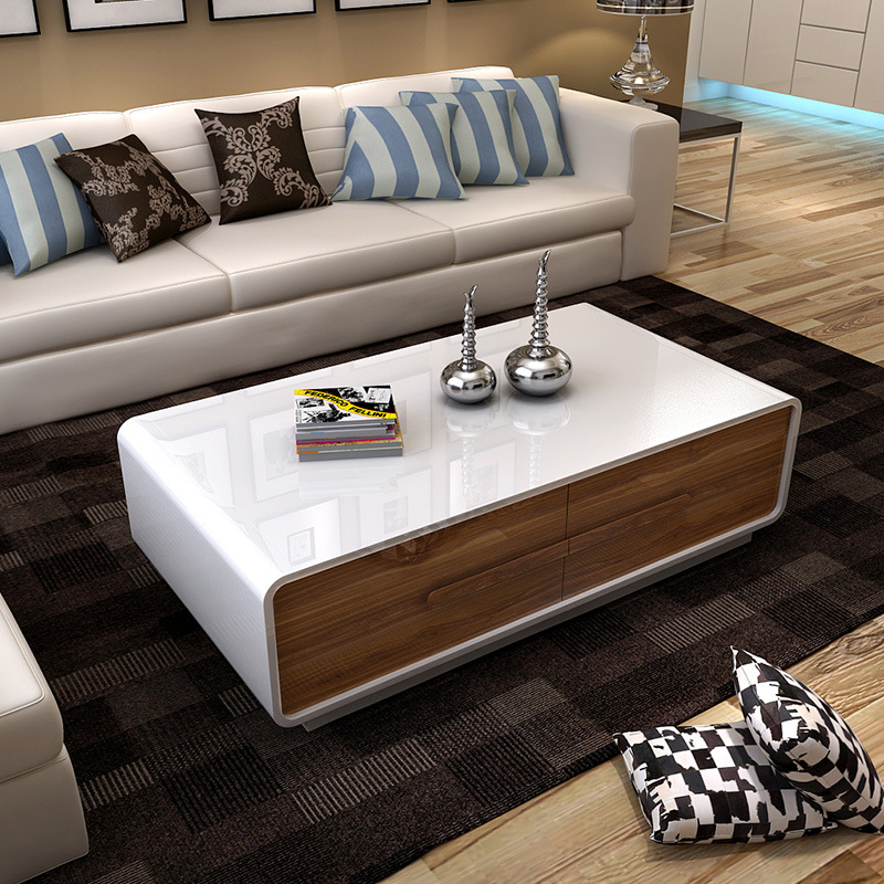 Modern paino painting center coffee table and tv stand for Mesas de tv modernas
