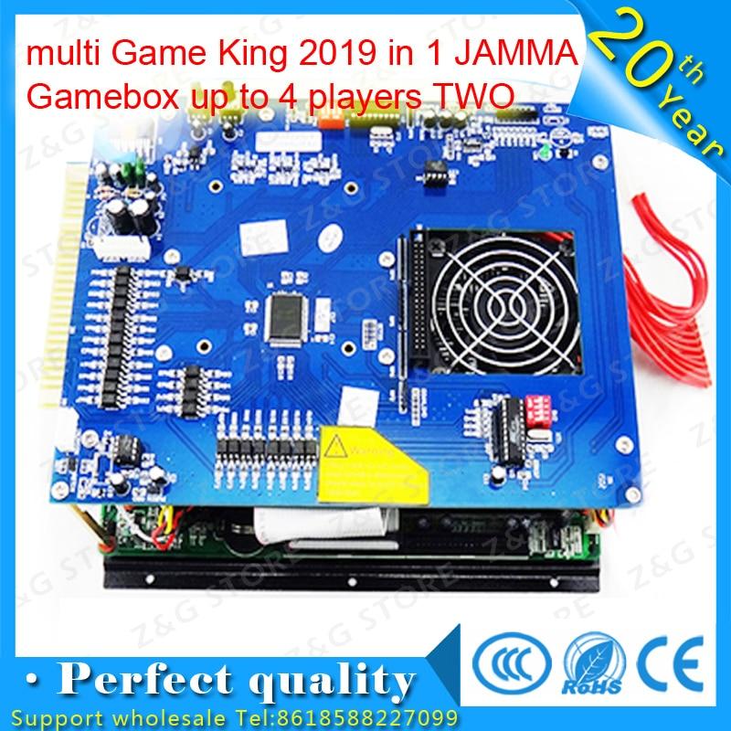 Arcade machine pcb multi jeu roi 2019 en 1 mise à niveau à 2100 JAMMA Gamebox jusqu'à 4 joueurs deux armoires sans alimentation